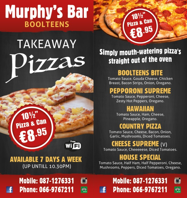 murphys pizza flyer